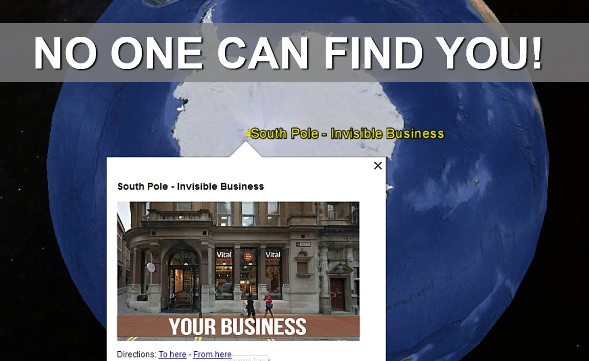 South Pole Syndrome no one can Find your business